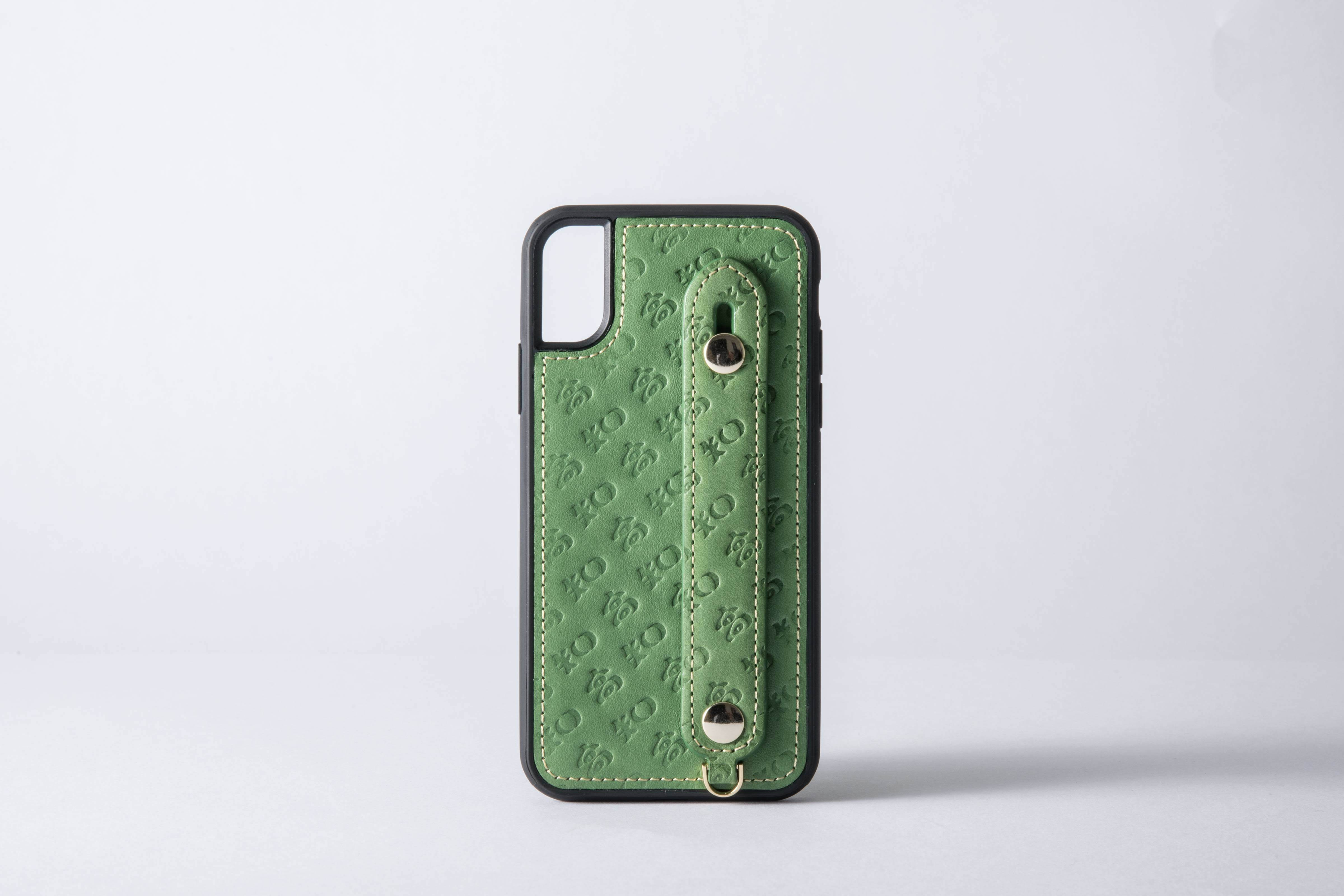 b793e72a47d3 高知のiPhoneケース(本革) グリーン(7/8、X/XS) 一週間以内での発送 ...