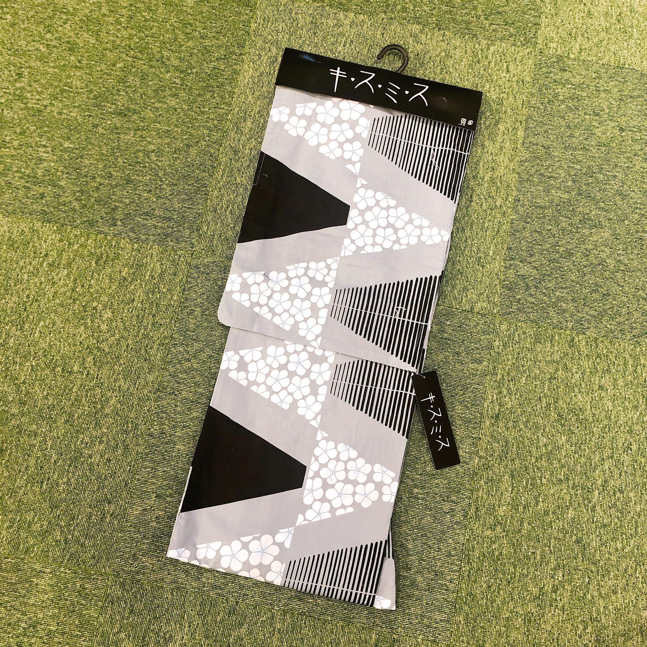 浴衣 レディース 単品 キスミス ブランド <黒&グレー> Yukata