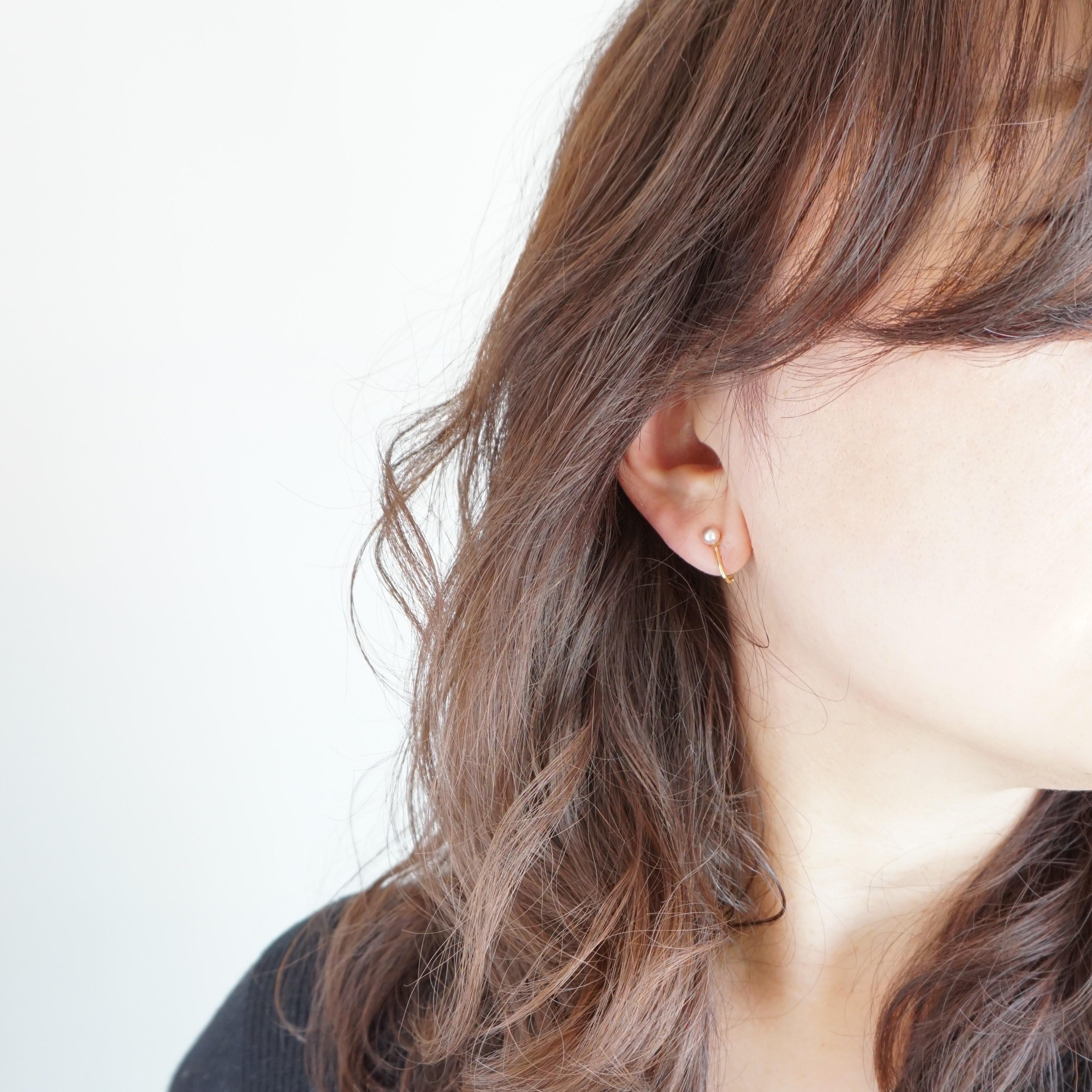 14kgf*Freshwater Pearls earring R-PK