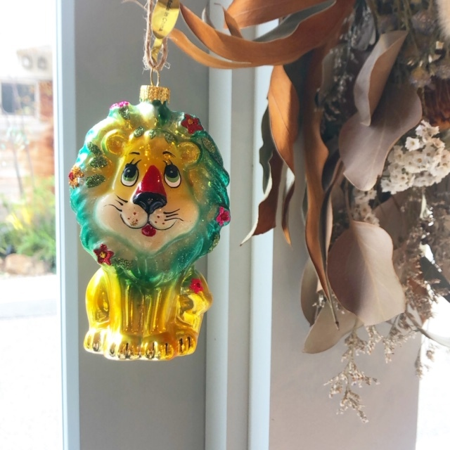"""Christmas Ornaments """"RETRO LION"""" クリスマスオーナメント"""