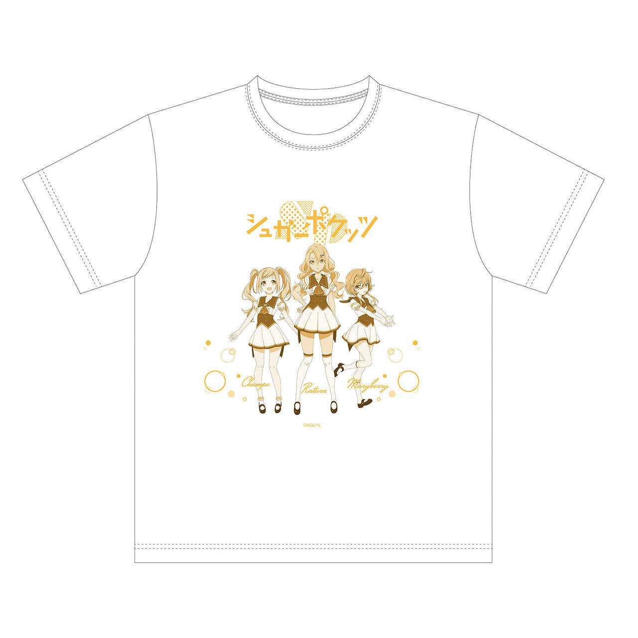 【4589839354554予】ラピスリライツ シュガーポケッツ Tシャツ 白/Mサイズ