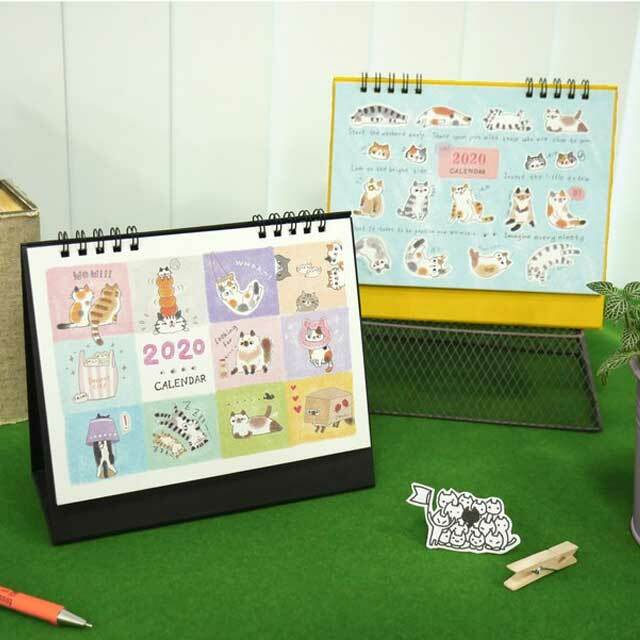 2020年 台湾版 卓上カレンダー O-CAT 猫