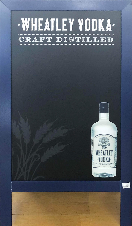 品番0177 サインボード 『WHEATLEY VODKA(ウィートリー ウォッカ)』 スタンド 看板 アメリカン雑貨