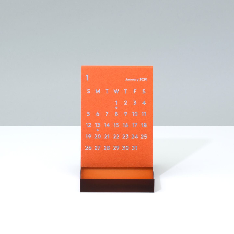 'CLARA' Desk Calendar 2020 Orange