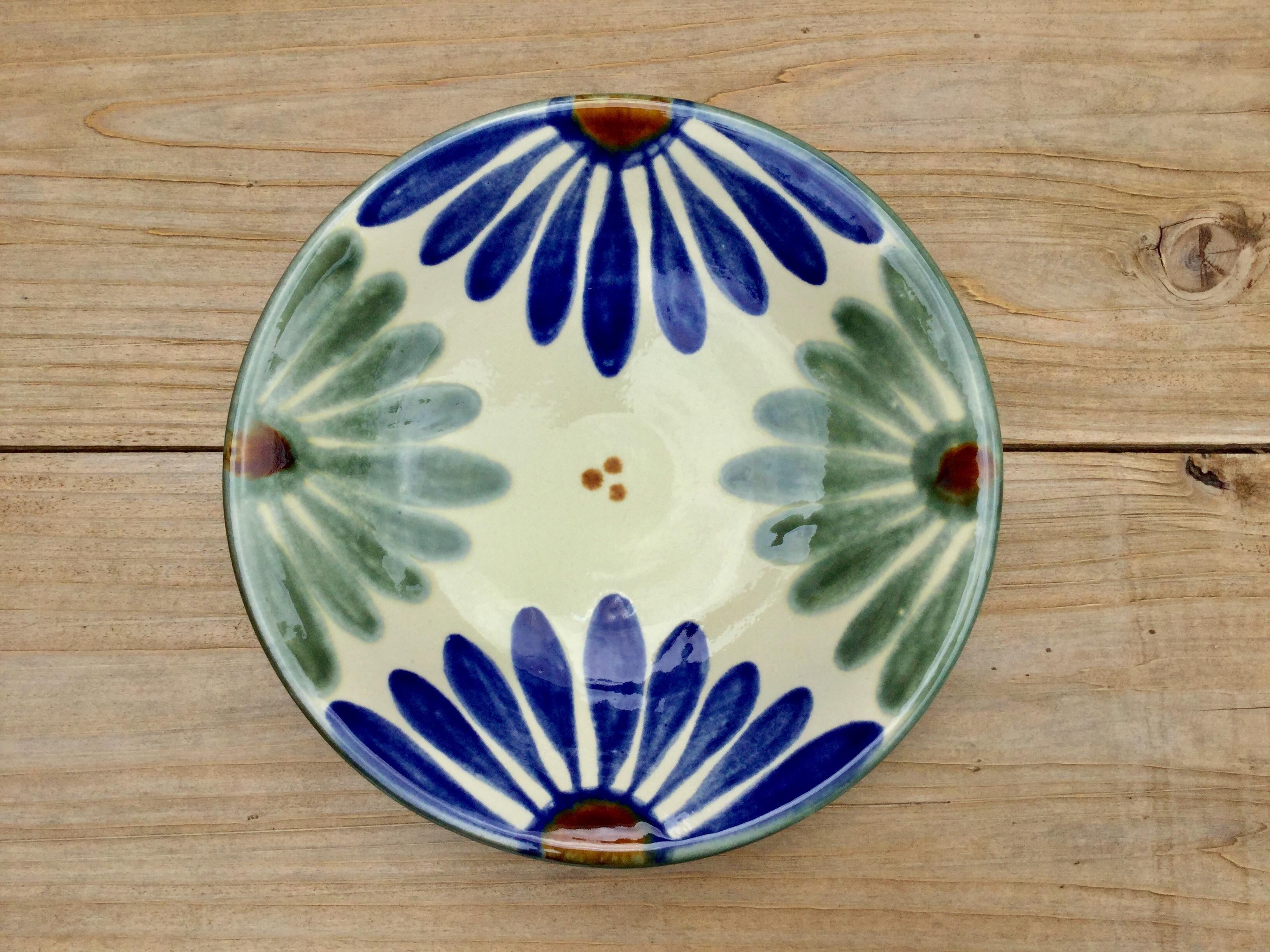皿7寸 菊紋   育陶園