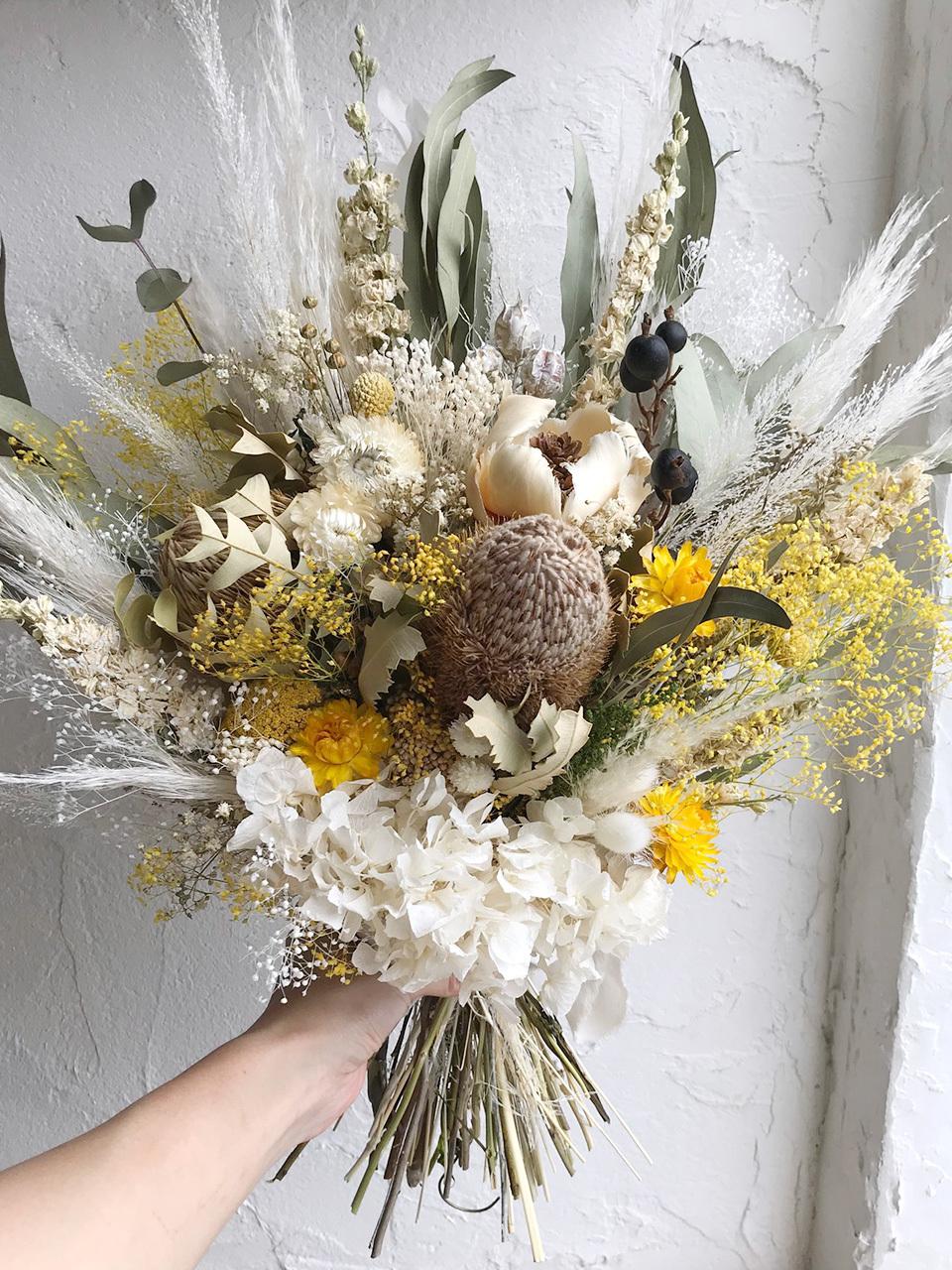 おまかせドライフラワー オーダースワッグ 花束 ブーケ LLサイズ
