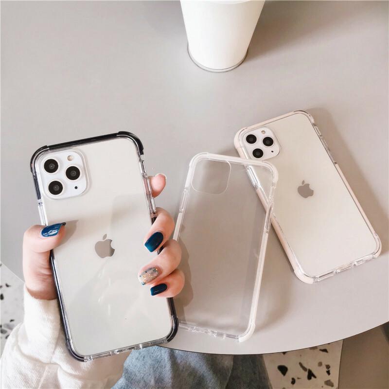 【お取り寄せ商品、送料無料】4カラー シンプル クリア ハード iPhoneケース iPhone11