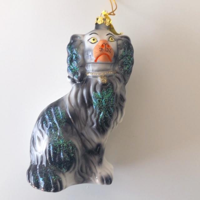 "Christmas Ornaments ""STAFFORDSHIRE DOG BLACK"" クリスマスオーナメント"