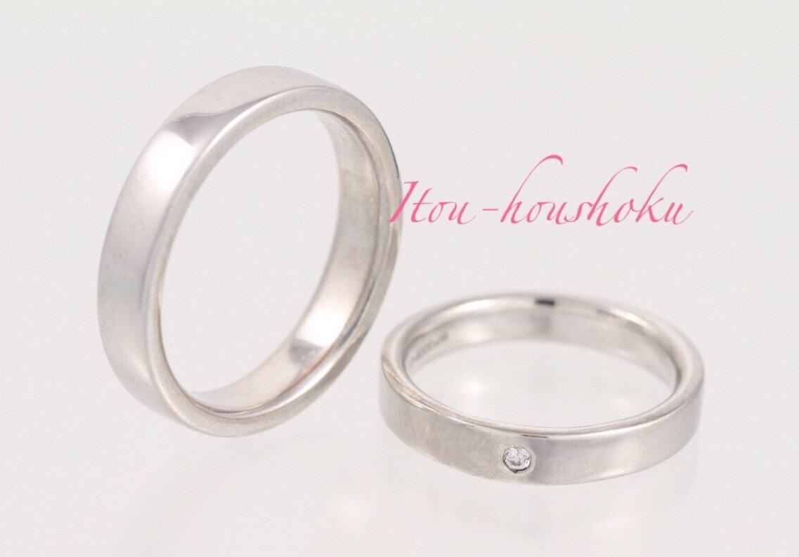 鍛造製法で作る結婚指輪 平打ちリング