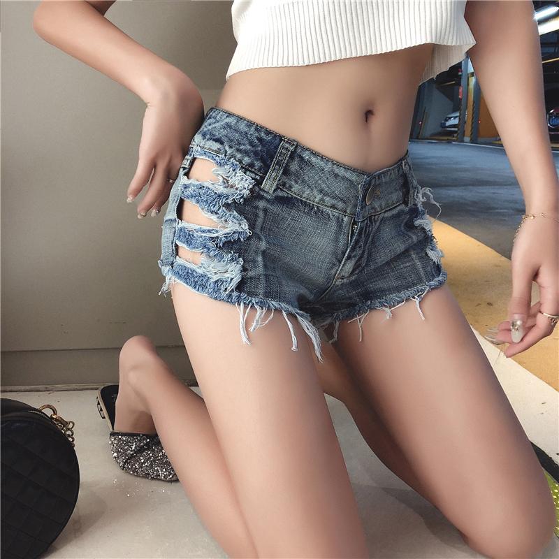 【bottoms】セクシーデニム透かし彫りショートパンツ21886798