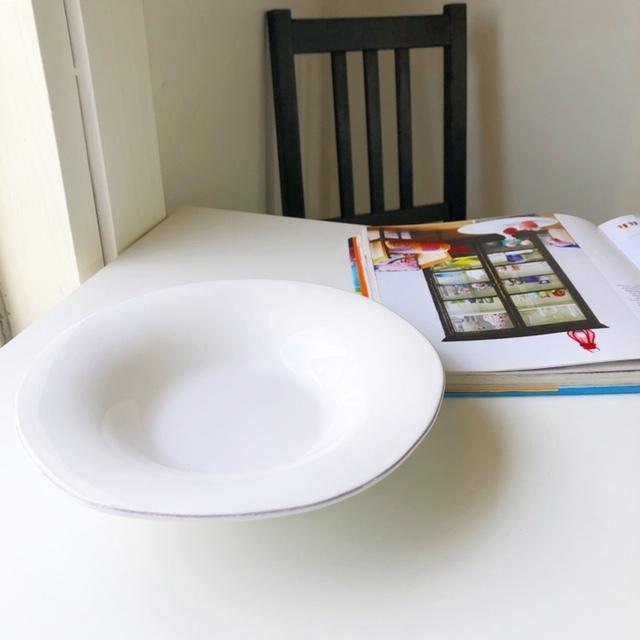 デンマーク rice 陶器 スープボウル (ホワイト)