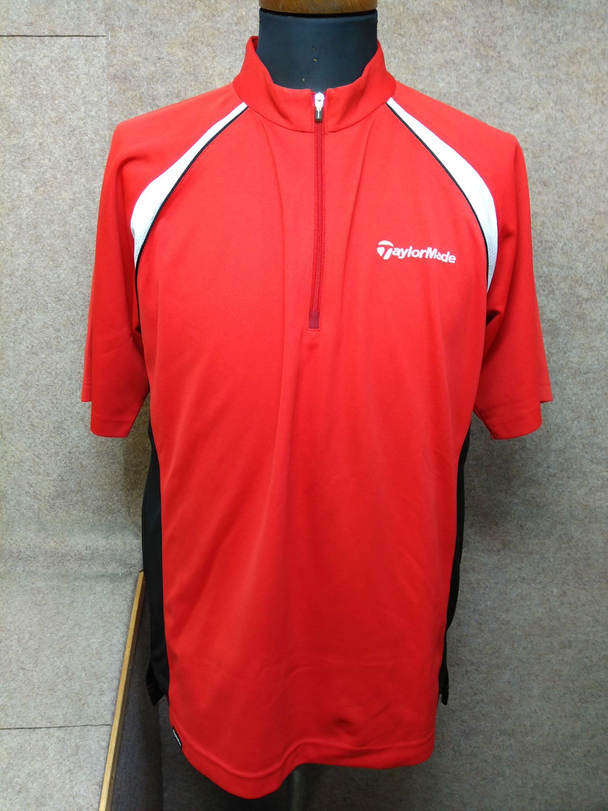 テーラーメイド ゴルフ メンズ ポロシャツ L 赤 u1182a