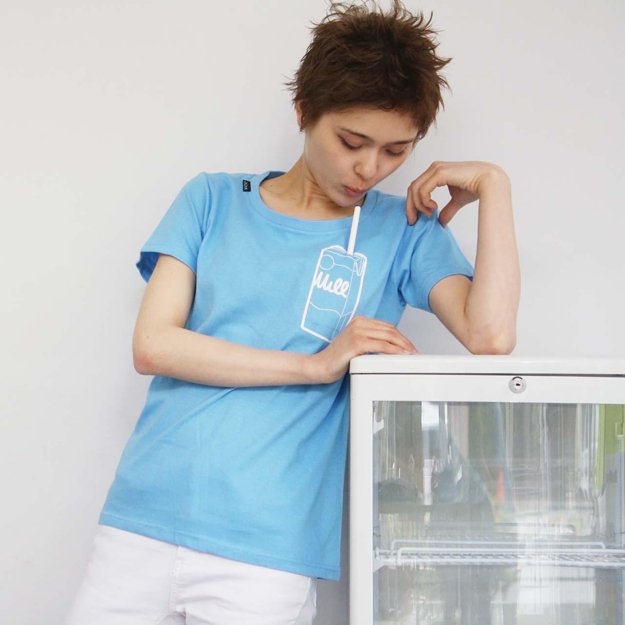 milk Tシャツ(サックス)