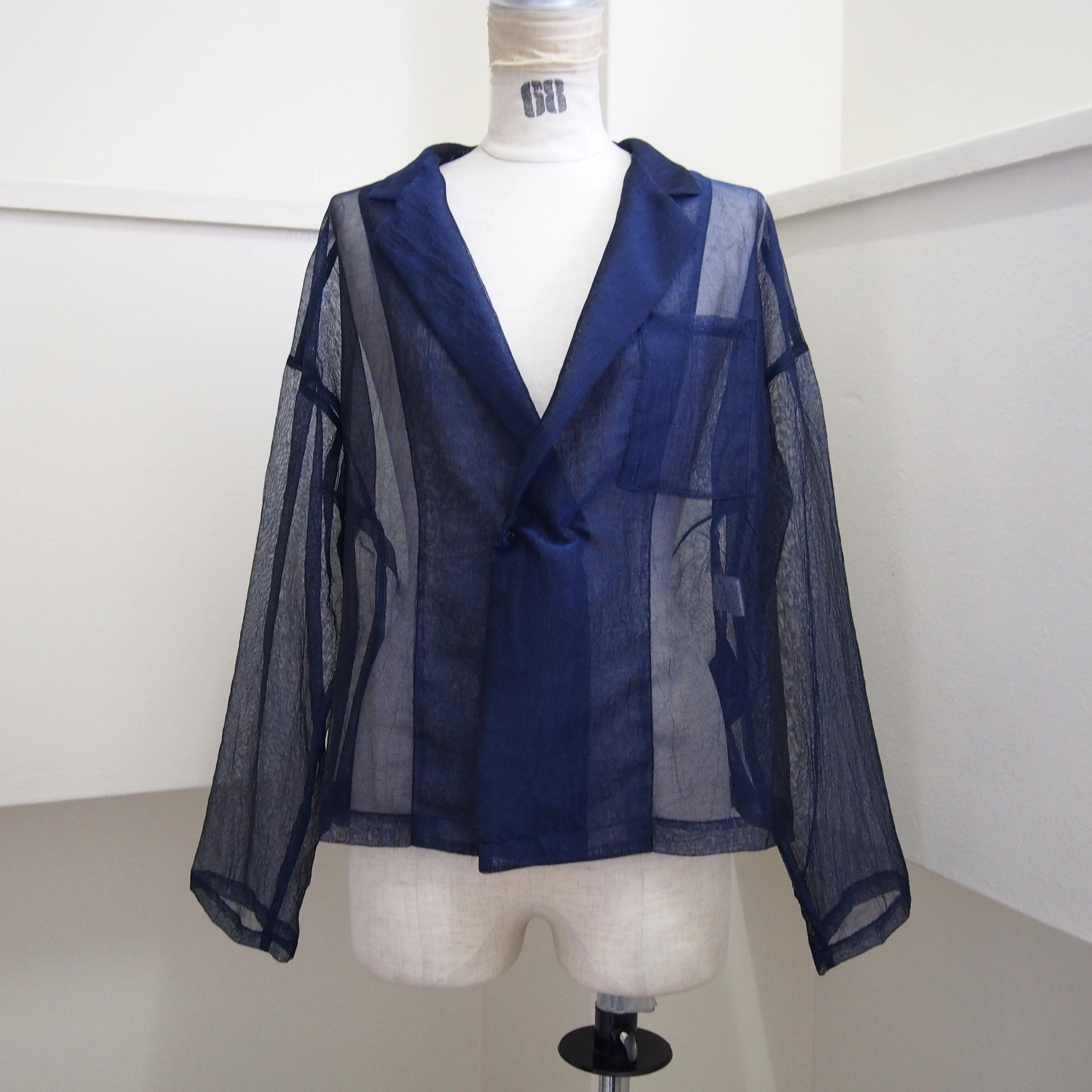 【RehersalL】mesh short coat (navy)/【リハーズオール】メッシュ ショートコート(navy)