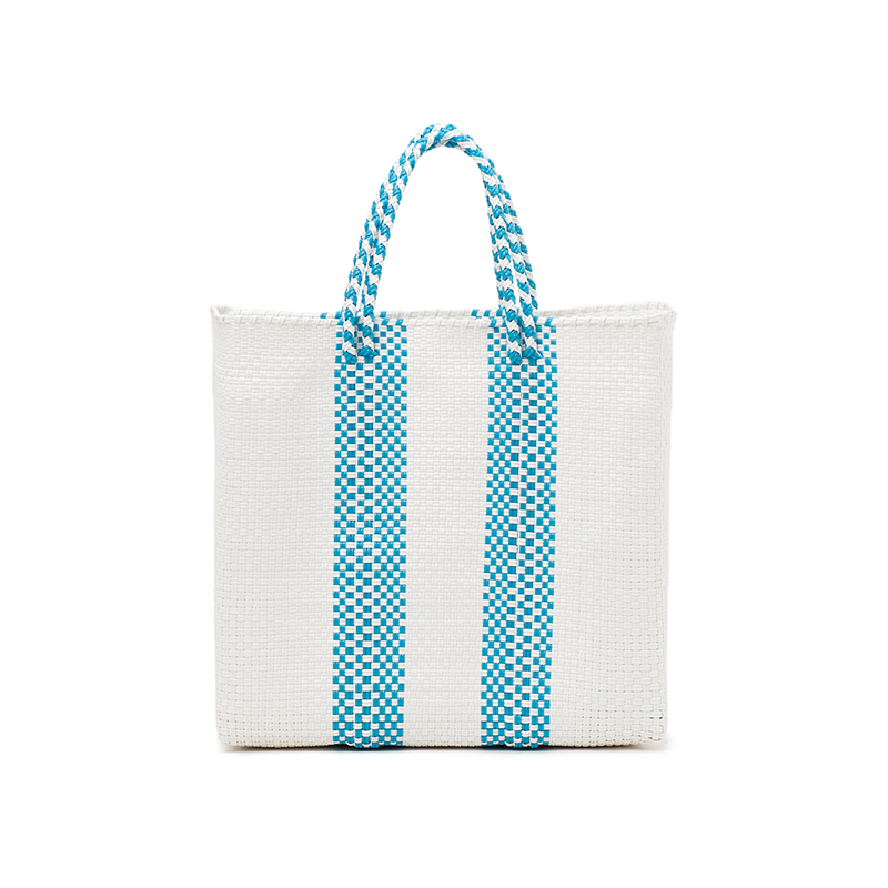 MERCADO BAG 2LINES-Light Blue (M)
