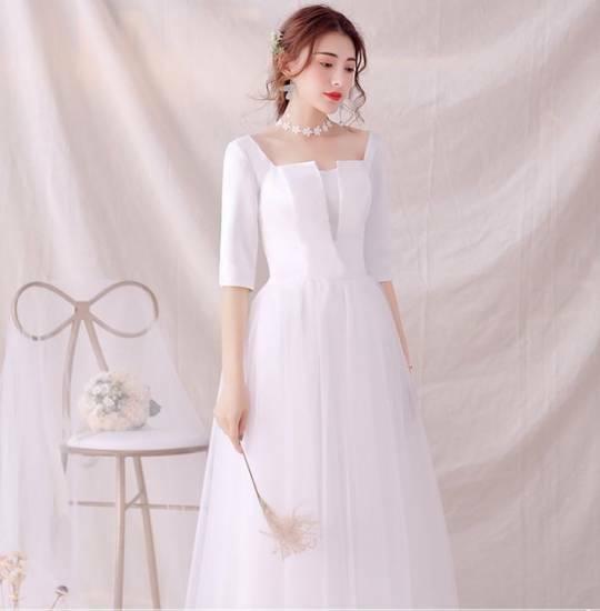84d5b6a724cb1 ウェディングドレス 白 二次会 花嫁 大きいサイズ カラードレス ワンピース ドレス 激安 販売