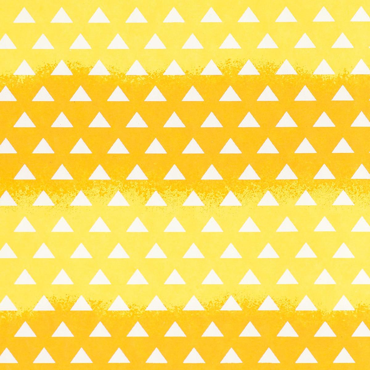 友禅紙 西 鱗柄 黄金色/赤橙色