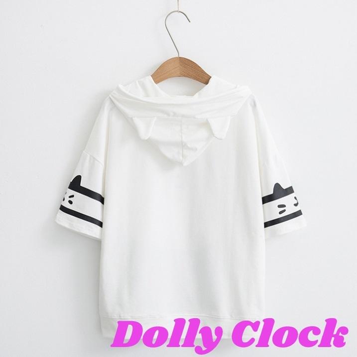 「ねこ」 半袖パーカーシャツ
