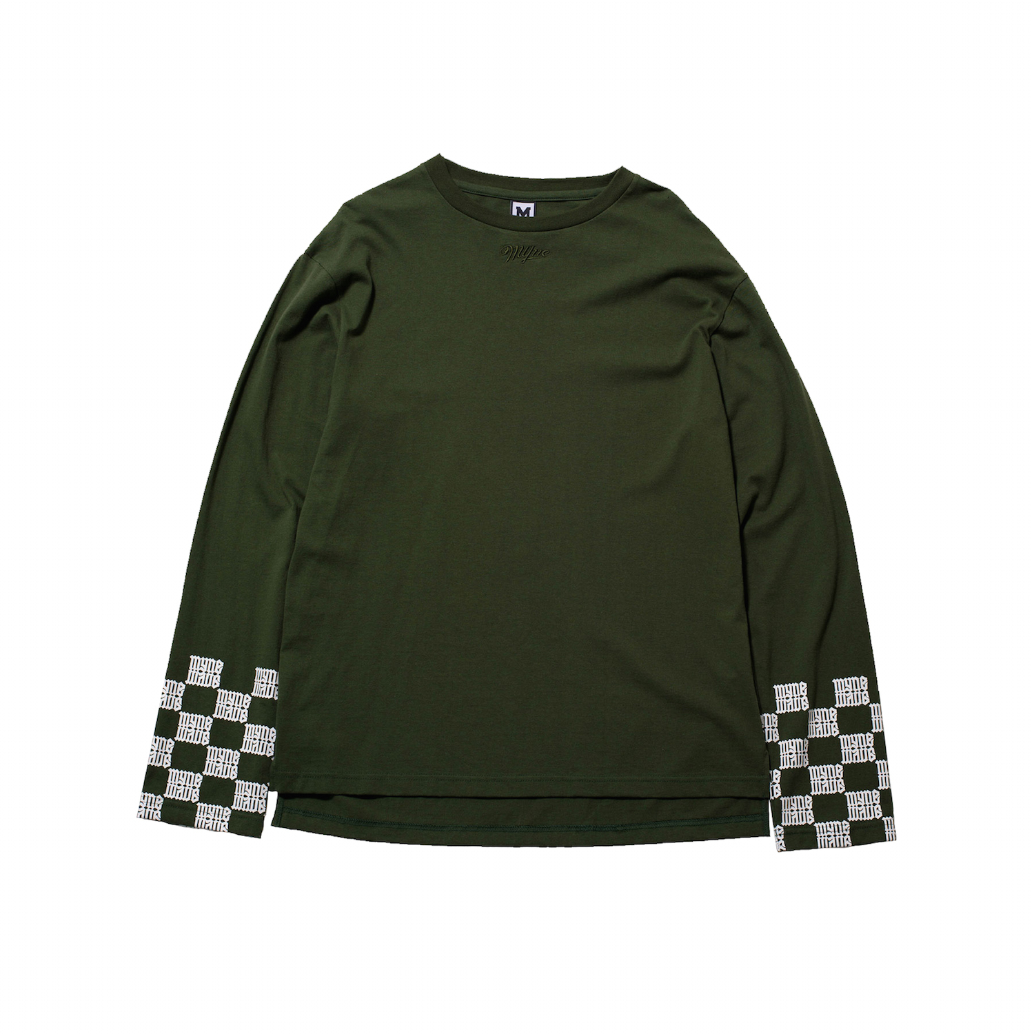 MYne CHECKER SLEEVE LTS / GREEN - 画像1