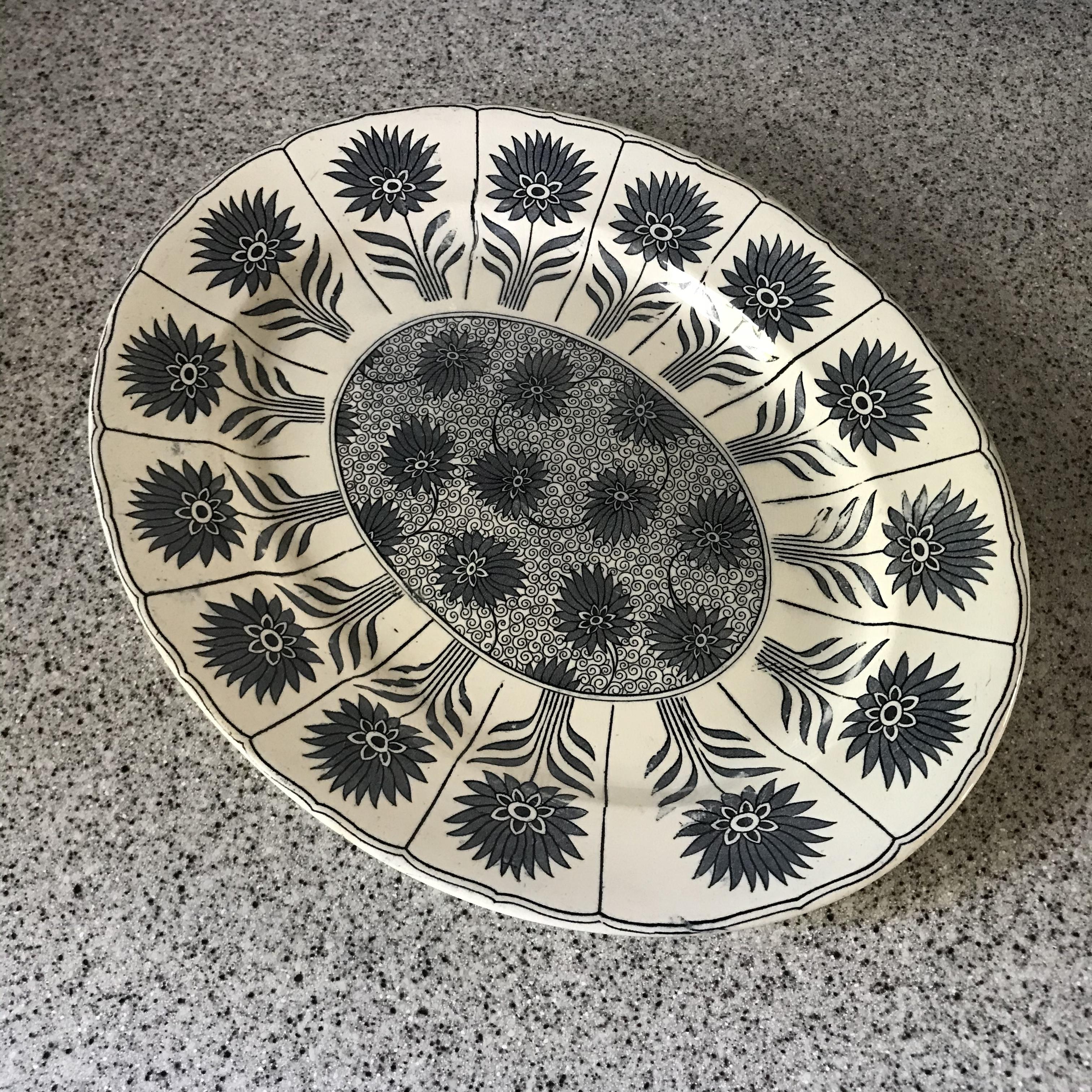 花柄の大皿