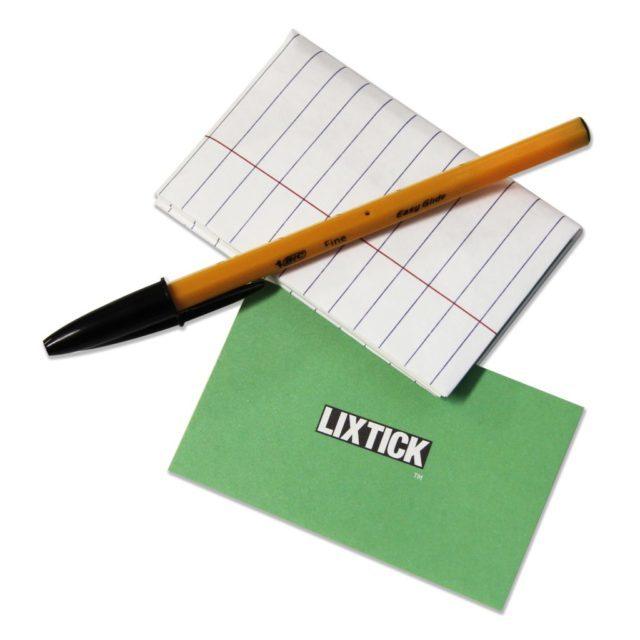 LIXTICK PAPER CASE – illegalpad / LIXTICK