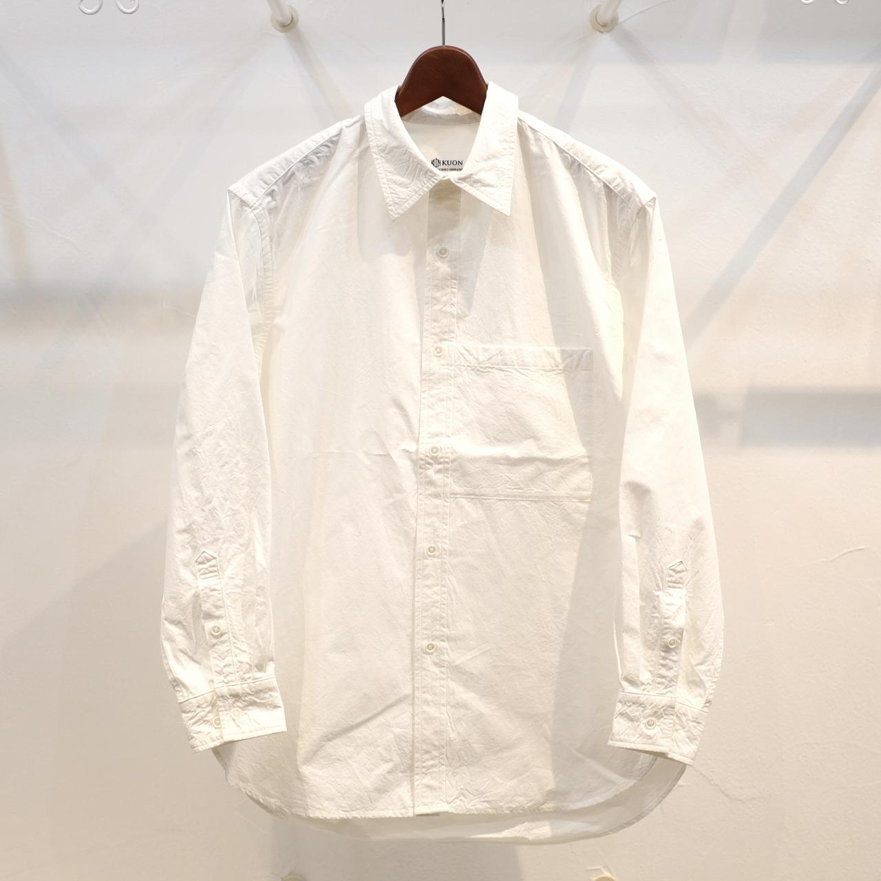 KUON(クオン) ファナージュコットンセミロングシャツ ホワイト