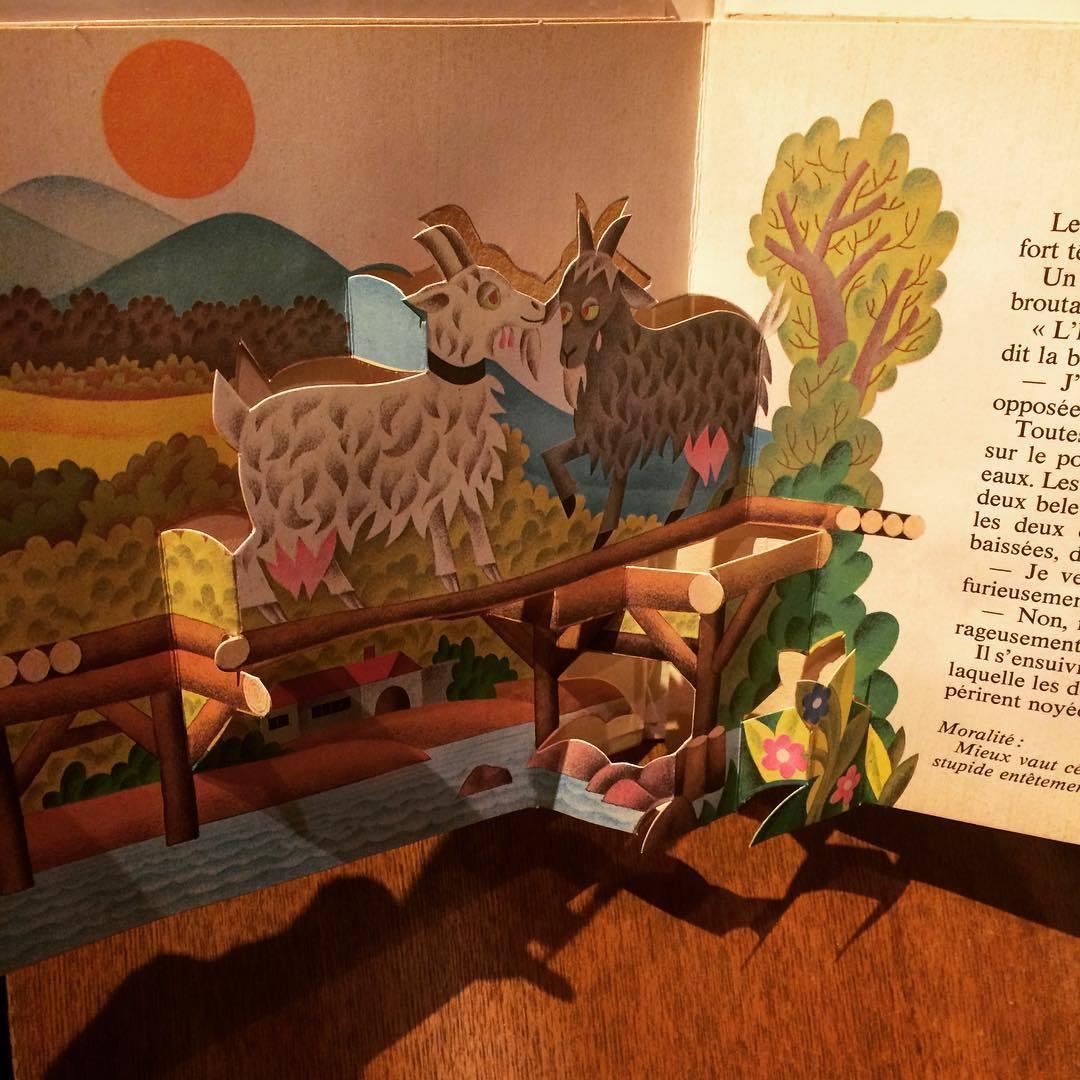 チェコのしかけ絵本(グスタフ・セダ)「Fables De La Fontaine: Pop-up Book/J. Pavlin、Gustav Seda」 - 画像2