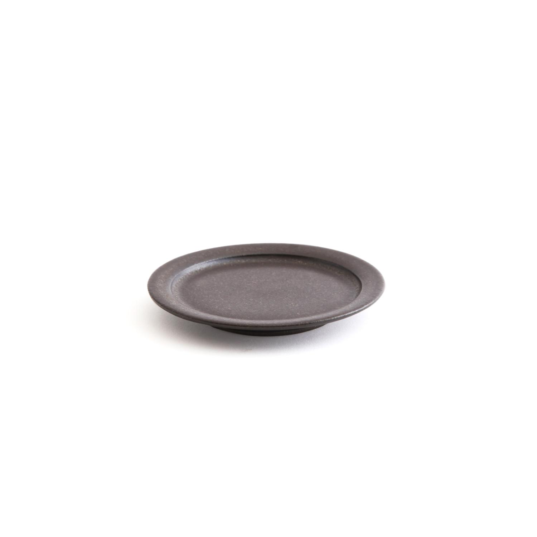 二川修/3寸リム皿 茶