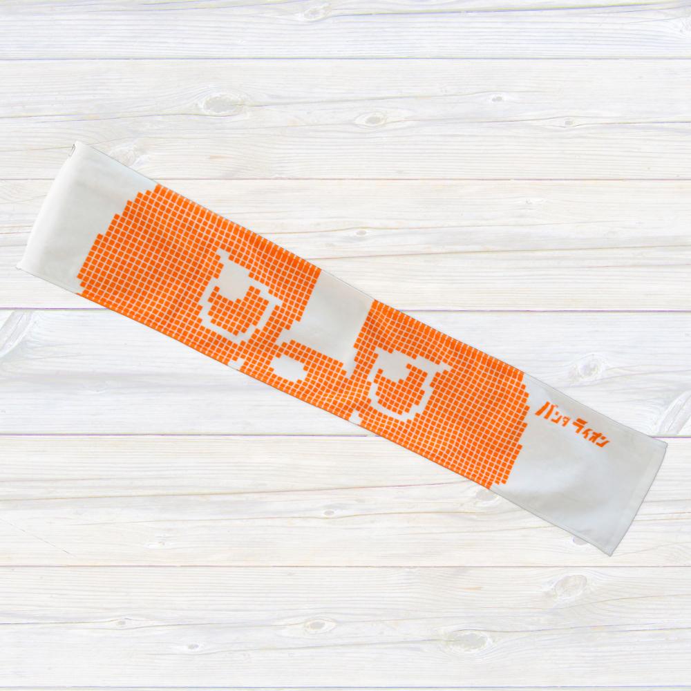 ドットマフラータオル (オレンジ)