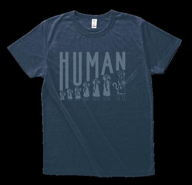 ピノキオピー 人間が着るやつTシャツ(メンズ / ネイビー) - 画像1