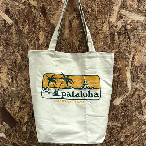 ハワイ限定 Patagonia (パタゴニア) pataloha (パタロハ) Sign Market Tote Bag (サインマーケット トートバッグ) Haleiwa限定 BEIGE
