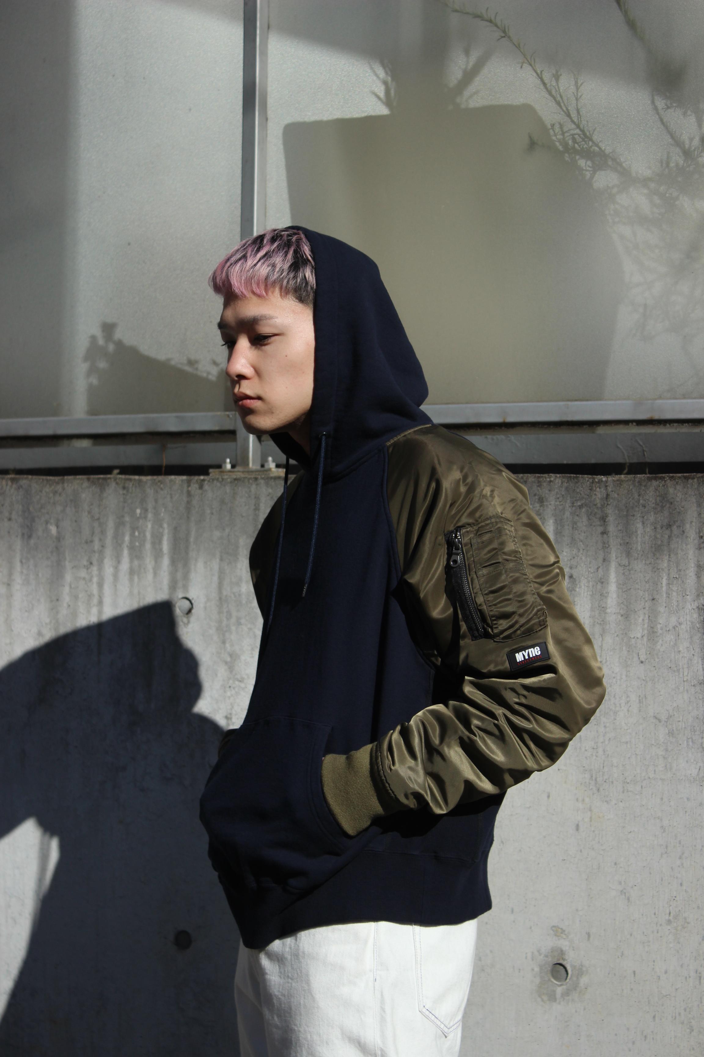 MA-1 hoodie / NAVY - 画像2