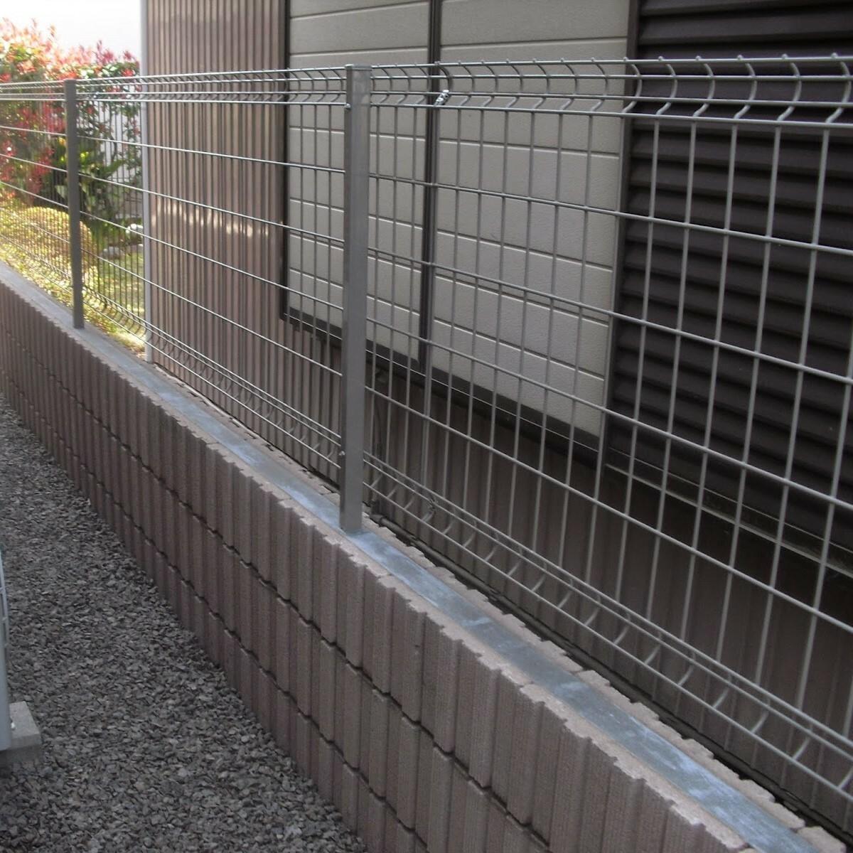 化粧ブロック3段+フェンス(メッシュフェンス)広告掲載商品!