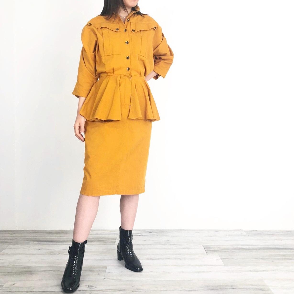 ◼︎80s vintage peplum dress from U.S.A.◼︎