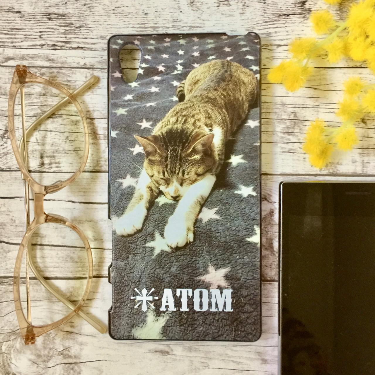 """オーダーメイドのスマホケース""""Atom"""""""