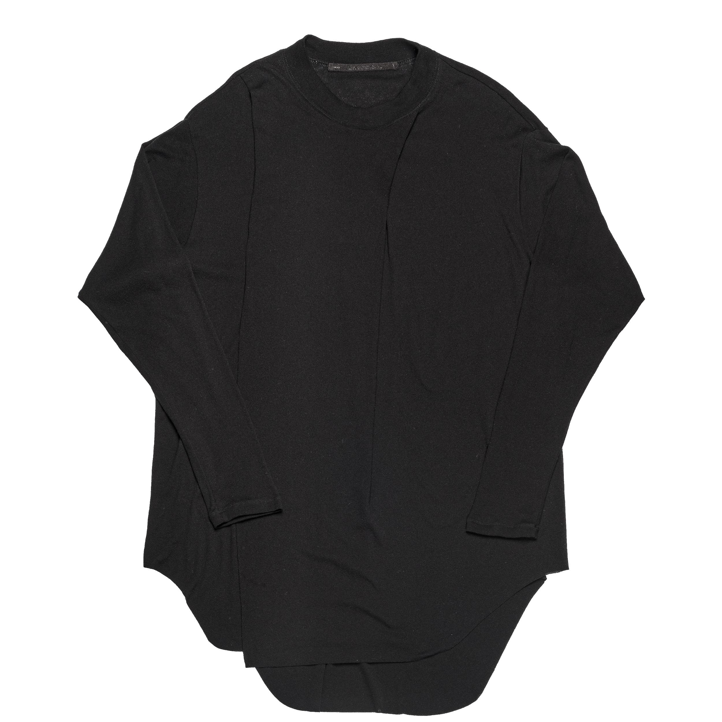 667CUM6-BLACK / ドレーピングシャツ