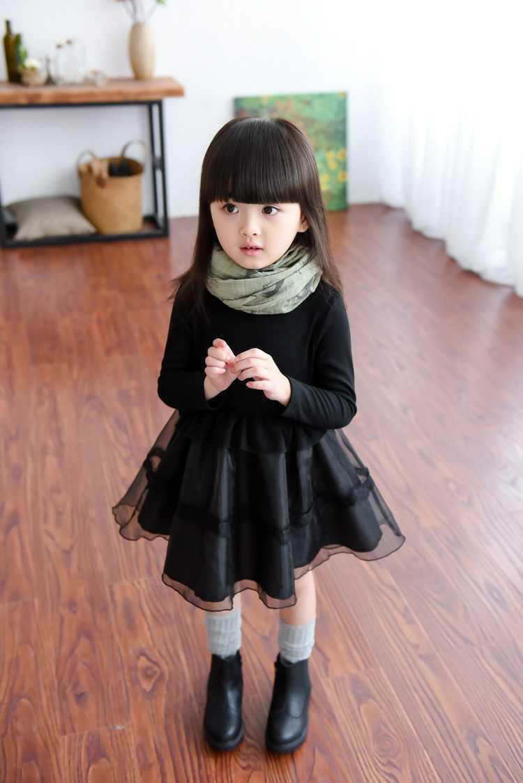 af9d3770ee34e  子供服 フォーマル長袖シフォンワンピース  キッズドレス 韓国子供服 チュールスカート