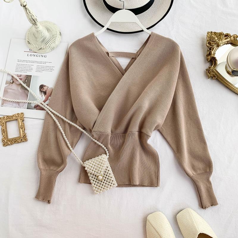 【トップス】ファッション無地切り替えセーター・カットソー24917435