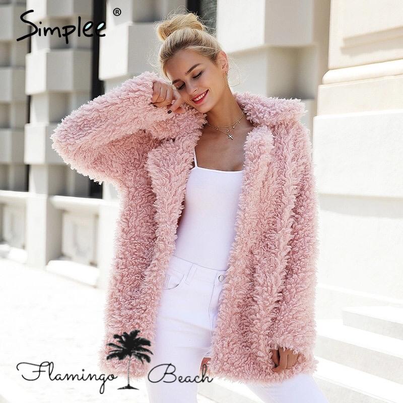 【FlamingoBeach】fake fur coat