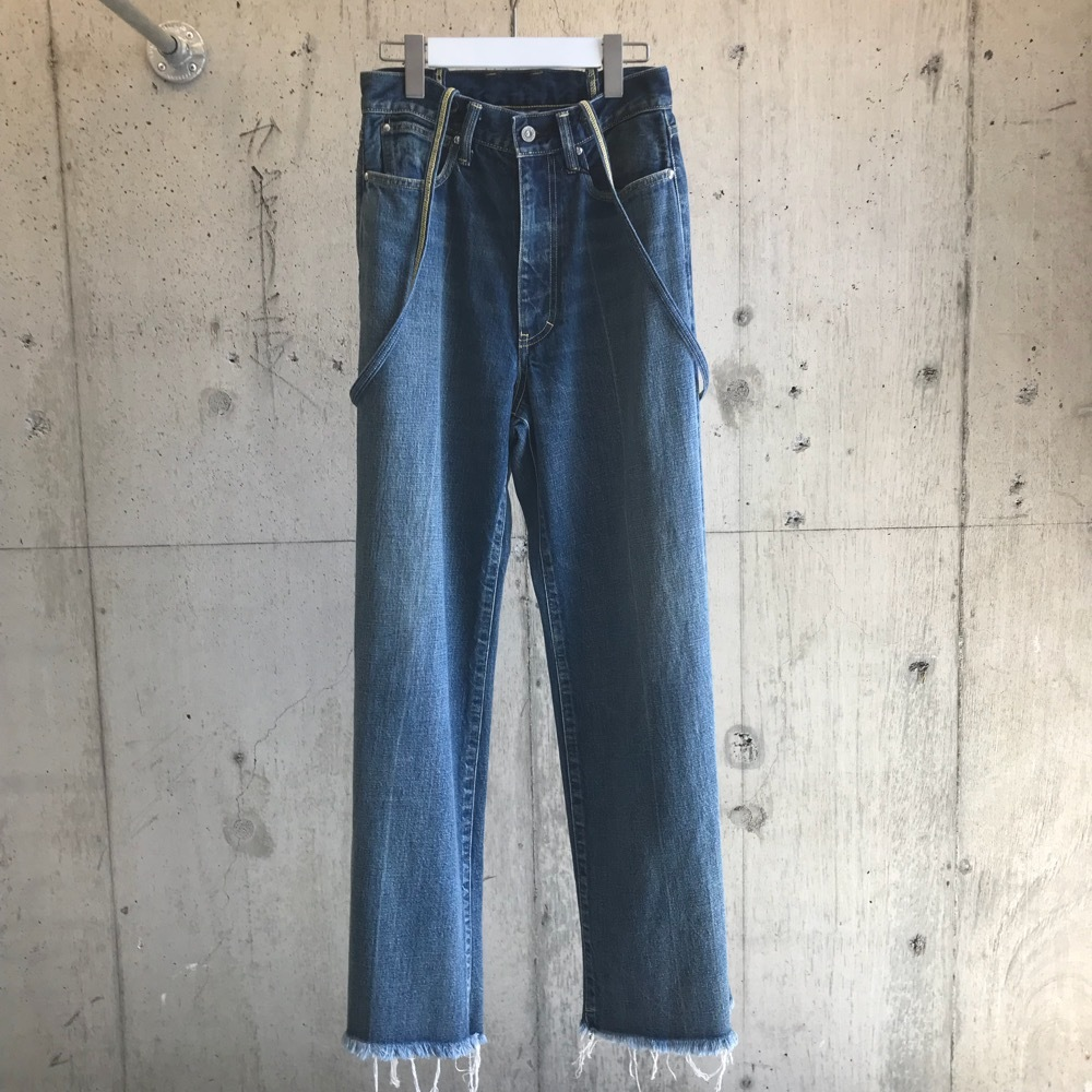 FILL THE BILL  SUSPENDERS DENIM WIDE PANTS 【WOMENS】