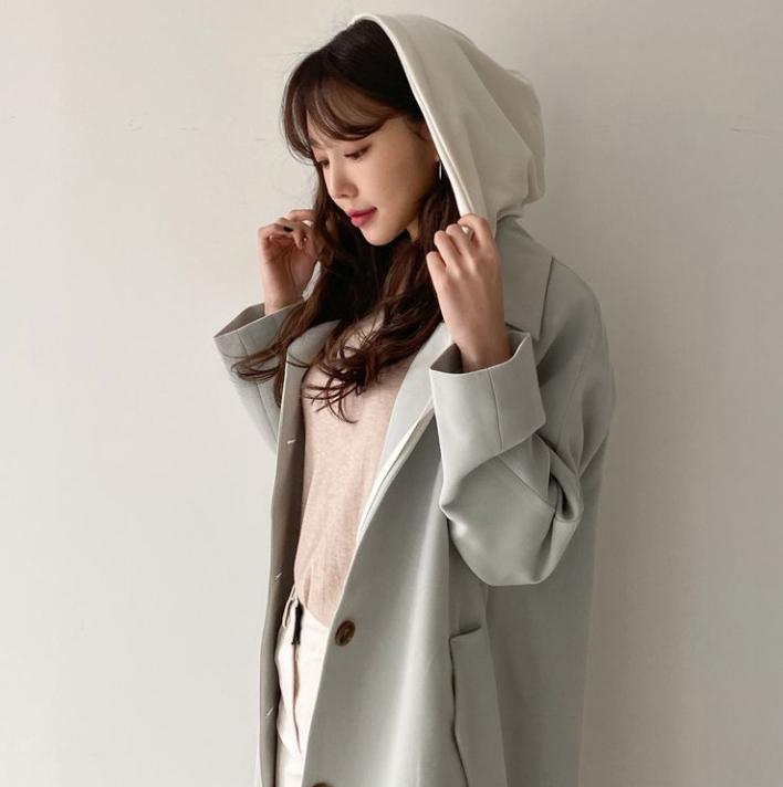 【送料無料】きれいめカジュアルコーデに ♡ 大人可愛い フード付き 春色 トレンチ スプリングコート