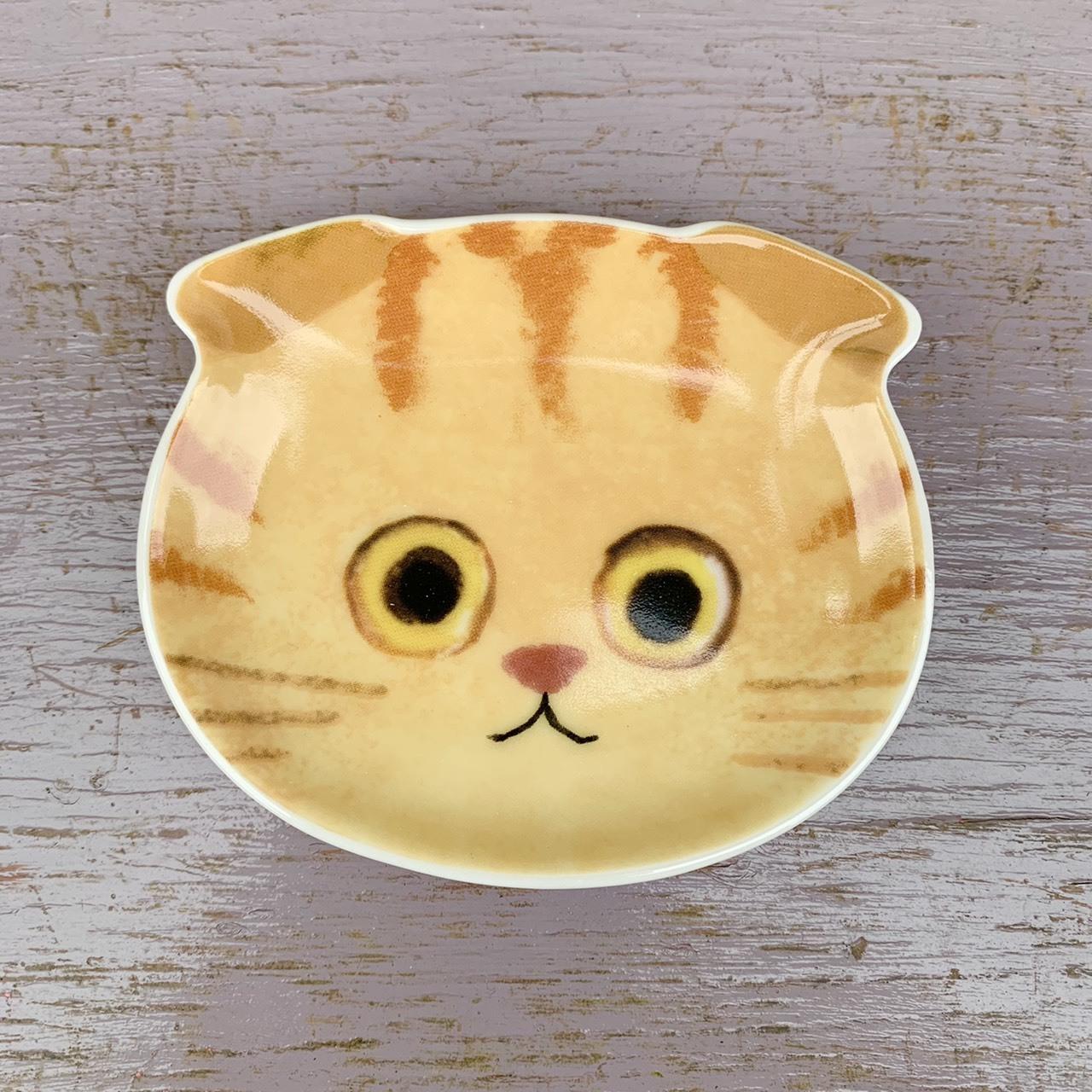 E.minette 豆皿「スコティッシュちゃとら」