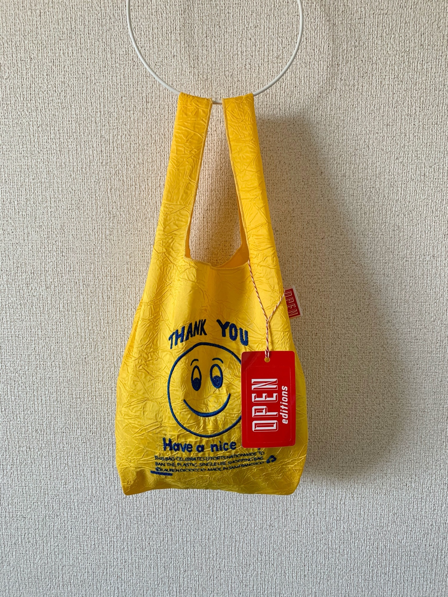 【OPEN EDITIONS】THANK YOU MINI エコバッグ/ SMILE Yellow
