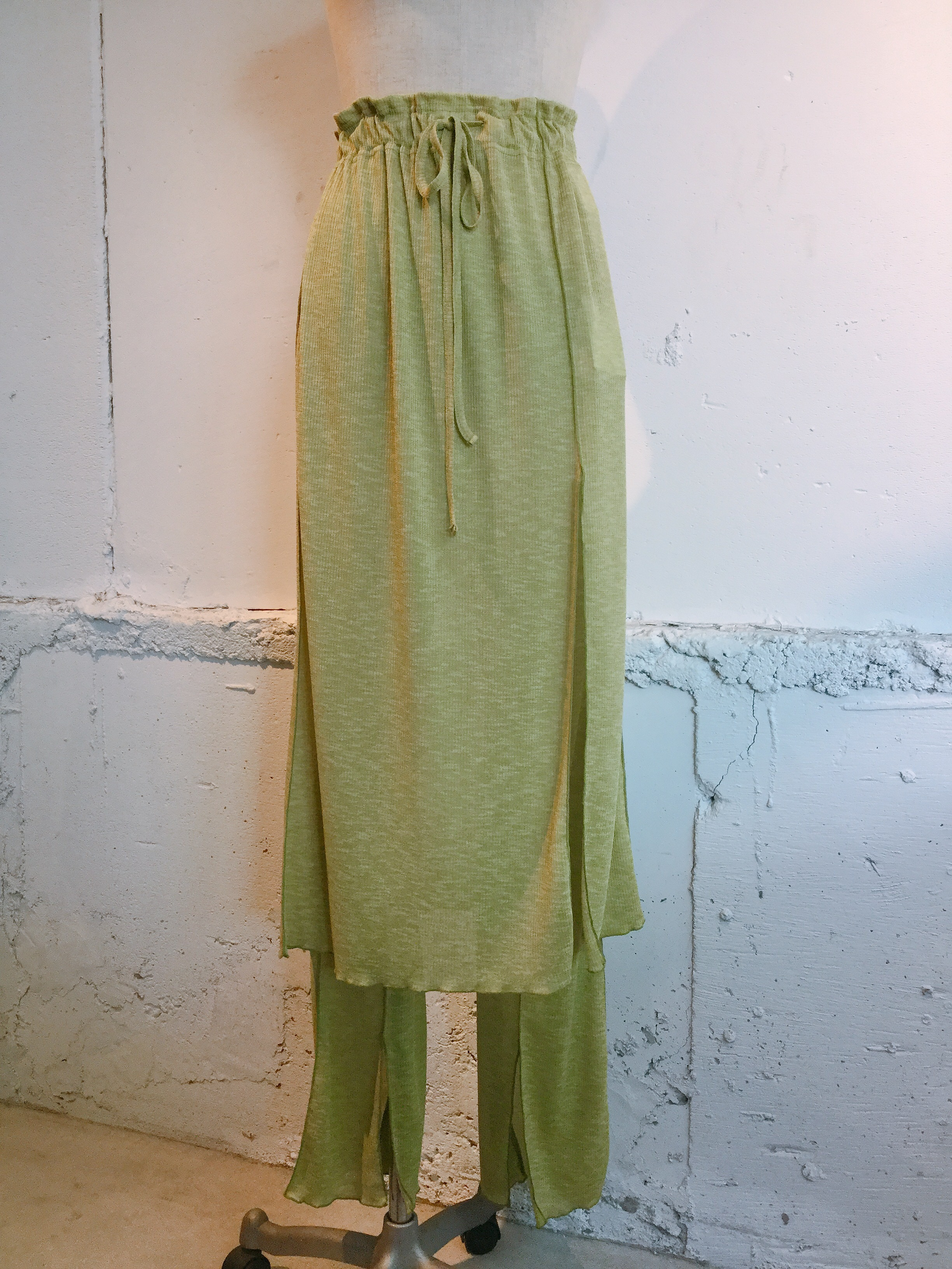 OKIRAKU Ribbed skirt&leggings (pistachios)