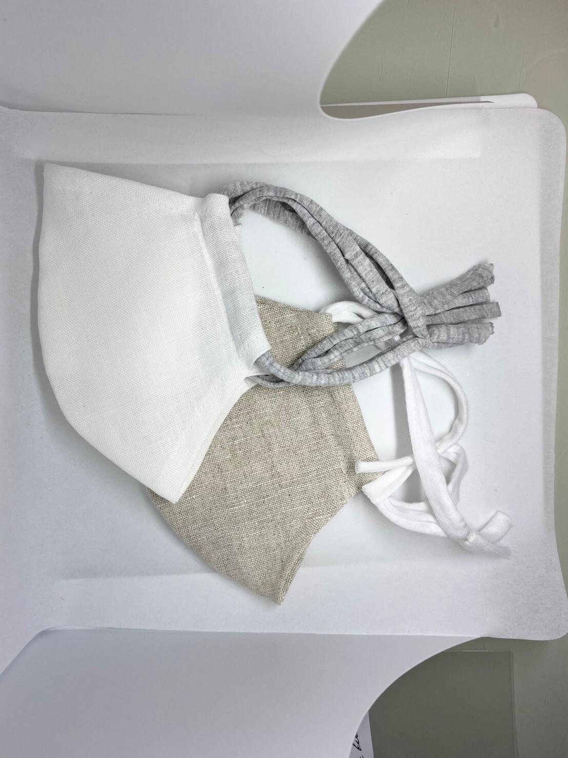【日本製】涼しいリネンマスク 抗菌インナー付き 女性用