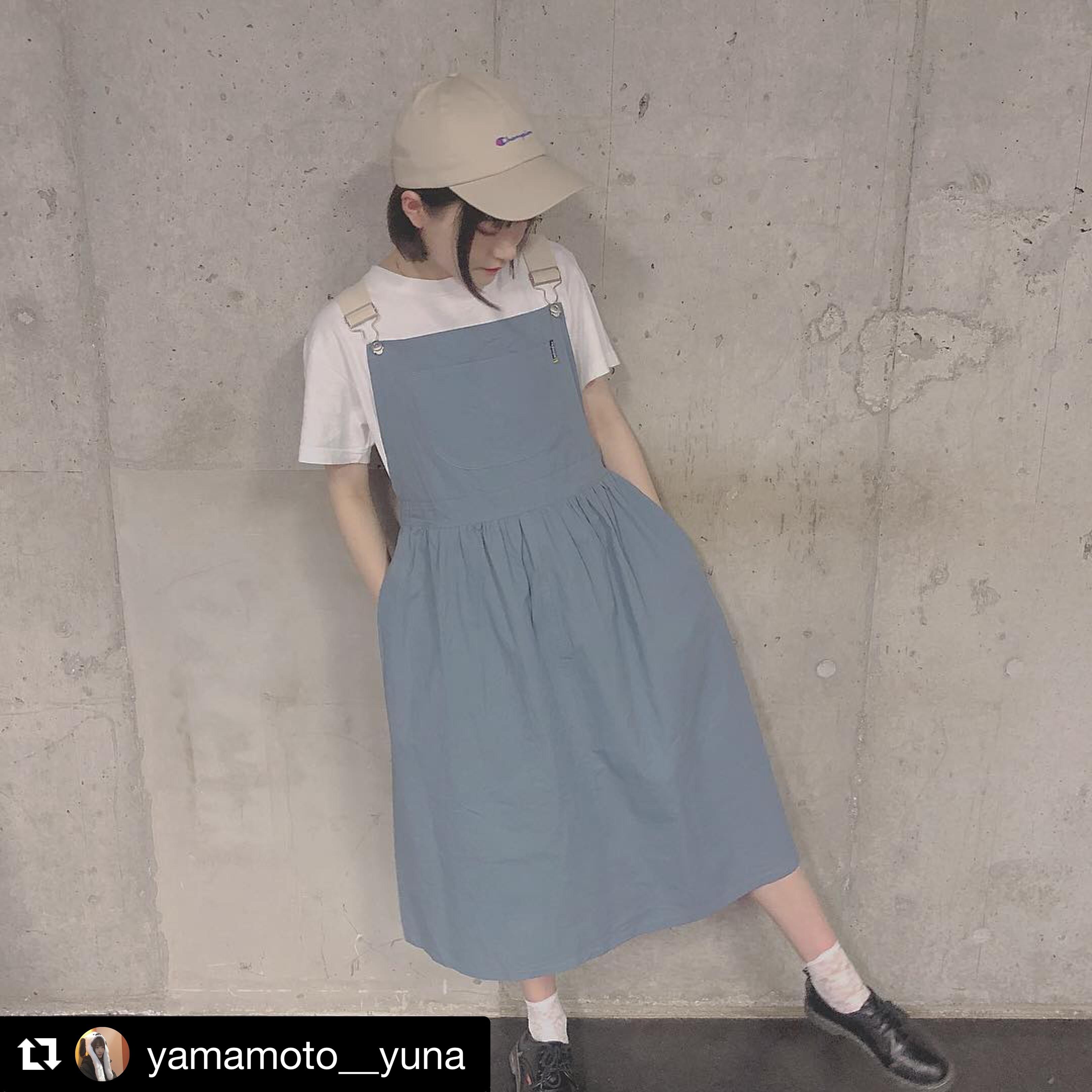 【送料無料】 ゆるかわワンピ♡ ふんわり ハイウエスト サロペット ジャンパースカート Aライン ロングスカート