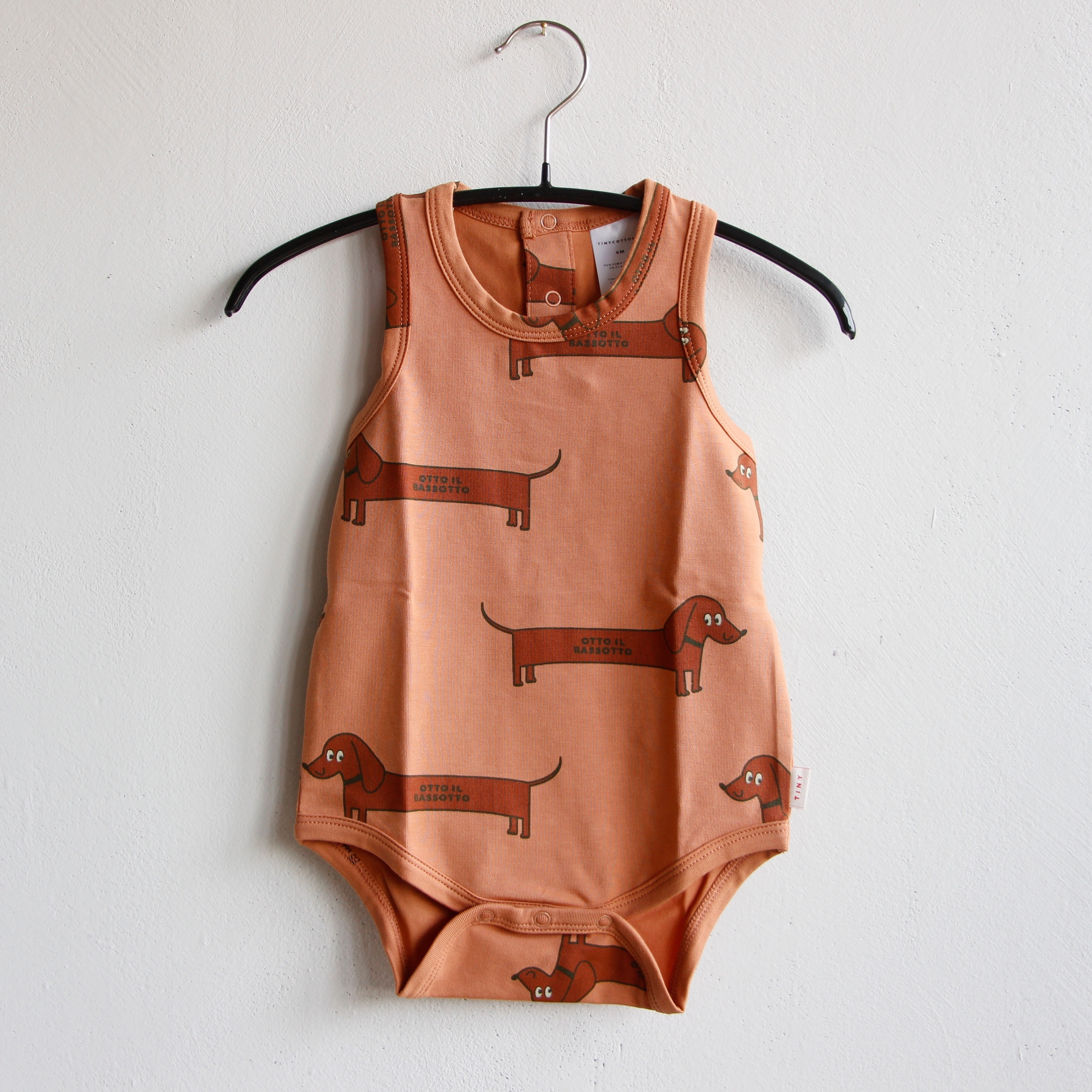 《TINYCOTTONS 2020SS》IL BASSOTTO BODY / tan × dark brown