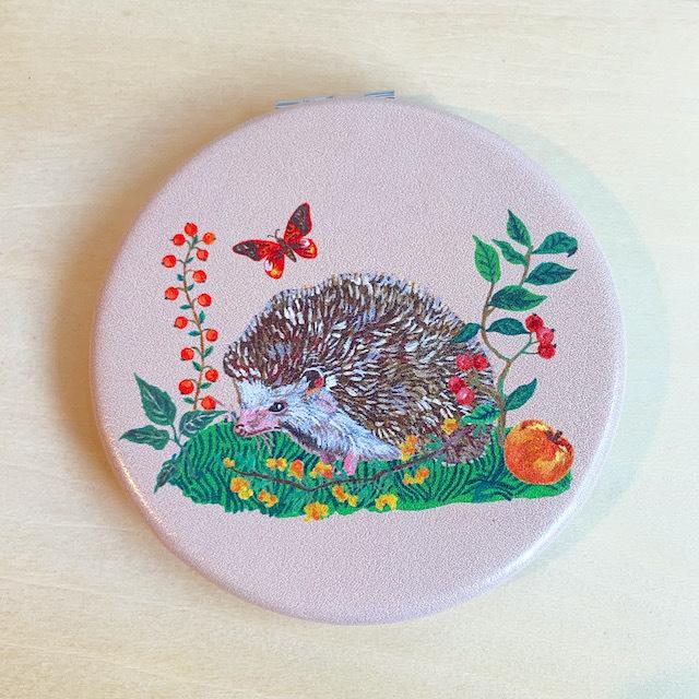 Nathalie Lete Compact Mirror Hedgehog ナタリーレテ コンパクトミラー