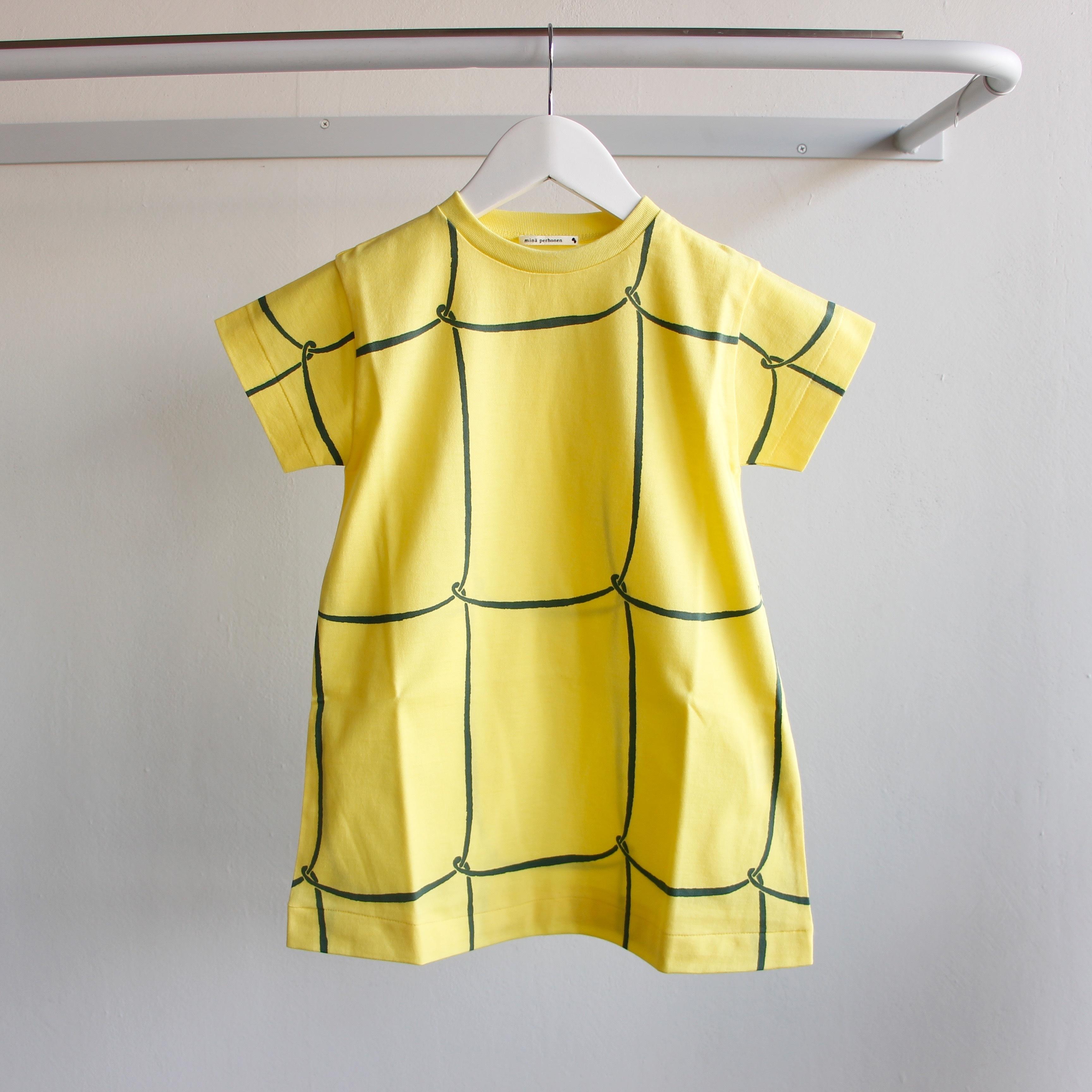 《mina perhonen 2018SS》ribbon frame ワンピース / yellow / 110-130cm