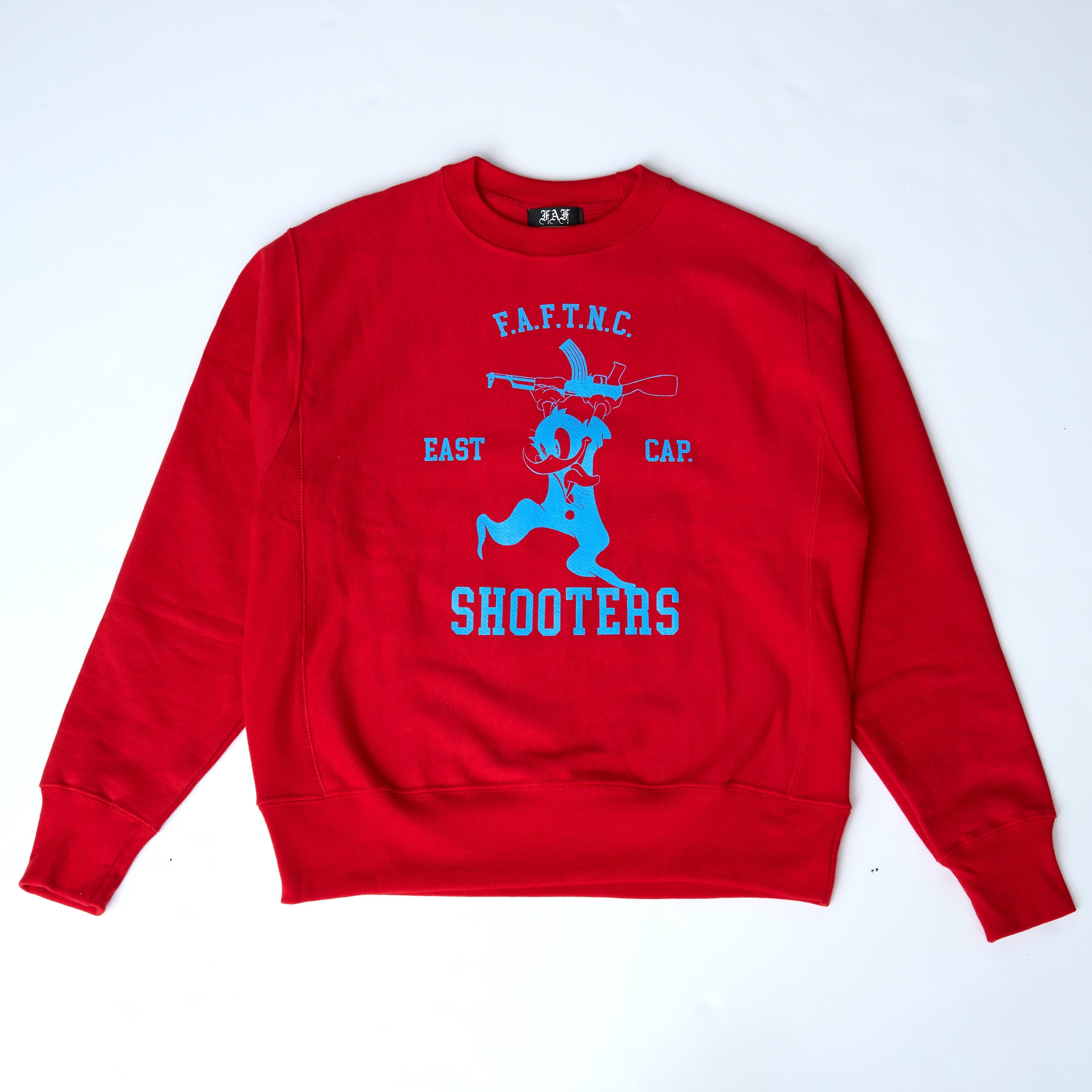 FAFTNC SHOOTERS CREWNECK / RED - 画像1